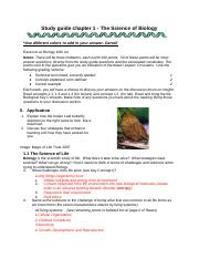 CH1 - The Science of Biology.docx