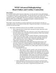 NURS 5315 Heart Failure and Cardiac Contraction Transcript