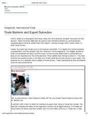 6. Trade Barriers and Export Subsidies
