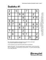 Kd Sudoku Ez 8 V1 Pdf Easy Sudoku Puzzles By Krazydad Volume 1