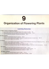 Organization of Flowering Plants