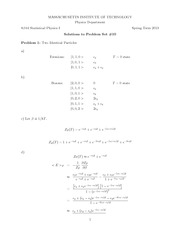 Physics 8.044 Pset 10 Solutions