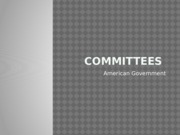 American Government Committees