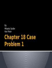 Business Statistics Chapter 18 Case Problem 1 Presentation.pptx
