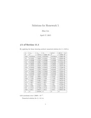 Homework 5 Solution on Numerical Analysis