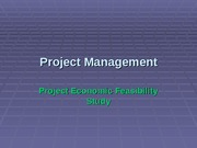 3. Project Feasibility Study