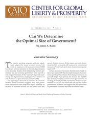 optimal size of government