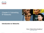 CCNA 1 Routing and Switching Chapter 9