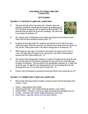Ecology Quiz Answer