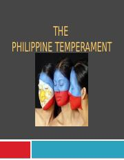 The Philippine Temperament.pptx