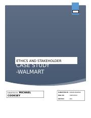 Ethics and Stakeholder mang. Walmart.docx