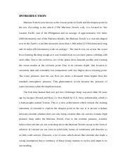 Mariana Trench (Intro and Conclusion).docx - INTRODUCTION ...