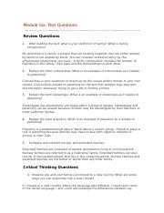 module six critical thinking and review questions.docx