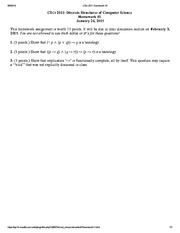 Homework and Answers for Discrete Structures of Computer Science