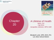 HEAL110chapter20