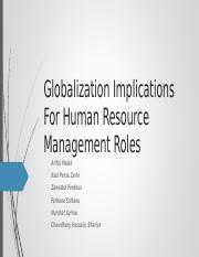 Globalization Implications For Human Resource Management Roles.ppt