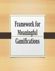 Framework-for-Meaningful-Gamifications