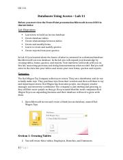 Lab 11 Access Database