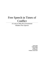 The Evil Dictator's Guide to Free Speech and How to Limit it in Your Citizens Draft the First