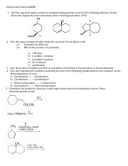 Homework Packet Alkene