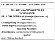 LW-BCH4122-Lecture1_2009