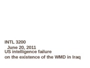 0620 US intelligence failure in Iraq