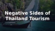 Negative sides of Tourism