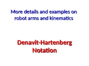 2012-1811. Robot Arm Kinematics=DH intro