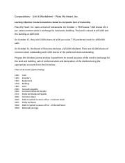 Corporations Unit 6 worksheet Directions