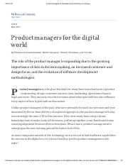 Product managers for the digital world _ McKinsey & Company.pdf