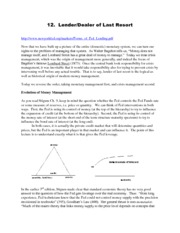 money-lecture_notes-Lec 12--Lender or Dealer of Last Resort