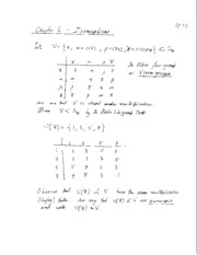 Isomorphisms Notes