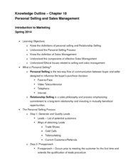 Chapter 18 Knowledge Outline