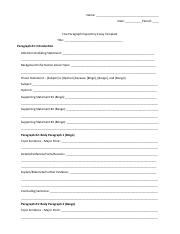 Expository Essay Outline-Print