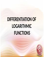 Lesson 9_Differentiation of Logarithmic Functions