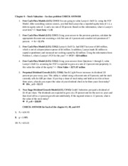 FIN 321 - Chapter 6 in-class problems CHECK ANSWERS