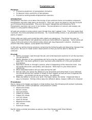 a lab report on an experiment with amino acids Protein lab report 3 'protein' refers to a type of molecule in food that can be broken down into amino acids protein lab report experiment 3.