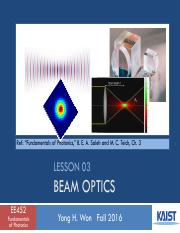 Lesson_03_2016f_Beam Optics