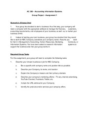 Group Project Assignment 1