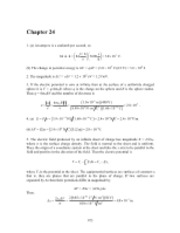PHY2049 Chapter 24 Solutions