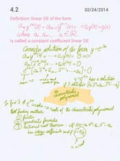 Constant coefficient differential equations