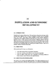 L-38 POPULATION AND ECONOMIC DEBVELOPMENT
