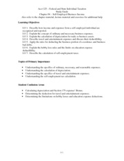 Study Guide - Chapter 06 – Self-Employed Business Income(1)