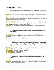 Subject of mendels study