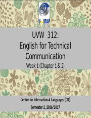 WEEK 1- INTRODUCTION TO TECHNICAL COMMUNICATION (3)