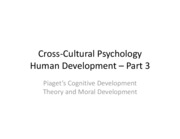Cross-Cultural Psychology lecture 6(2)