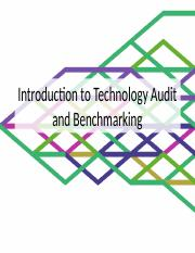 Introduction to Technology Audit and Benchmarking - TM 201 Report