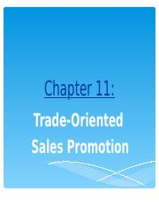 NEW Session  11 - Trade Oriented Sales Promotion.ppt