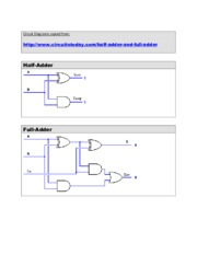 Study Guide on Half & Full Adders Logic Diagrams