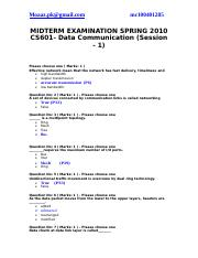 CS601-midterm2010 solved paper with references by moaaz(4th)
